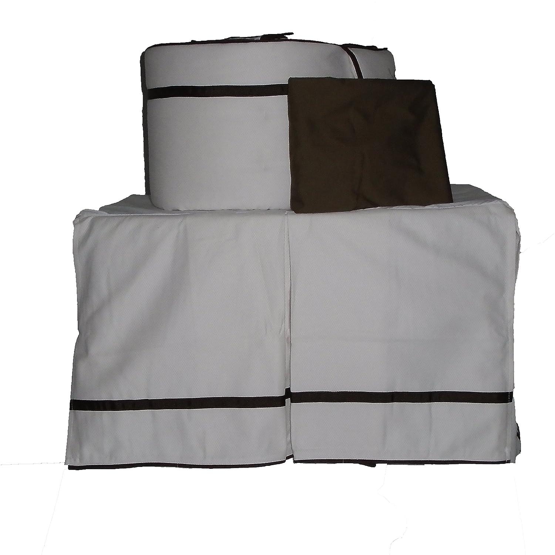 Baby Doll Bedding Hotel Style Crib Bedding Set, 3 Count by BabyDoll Bedding   B00LCV6EQA
