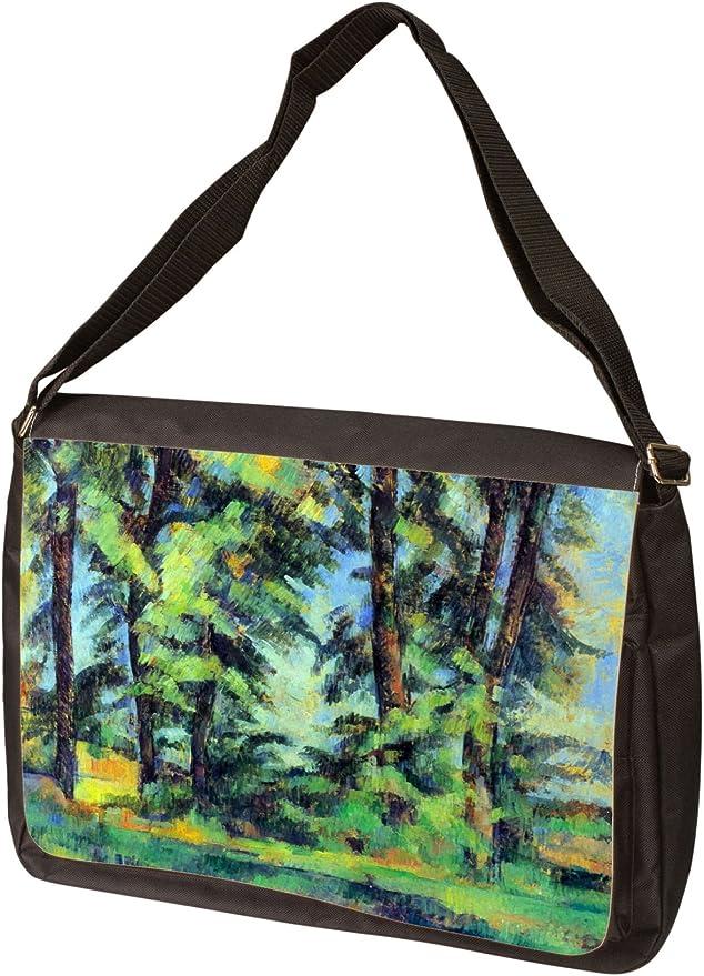 High trees in the Jas de Bouffan By Paul Cezanne Laptop Bag Messenger Bag Shoulder Bag