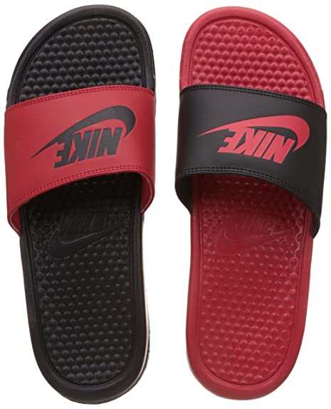 2ffa0891d3 Nike Mens Benassi JDI Mismatch Slide Sandals University Red/Black 5 D(M)