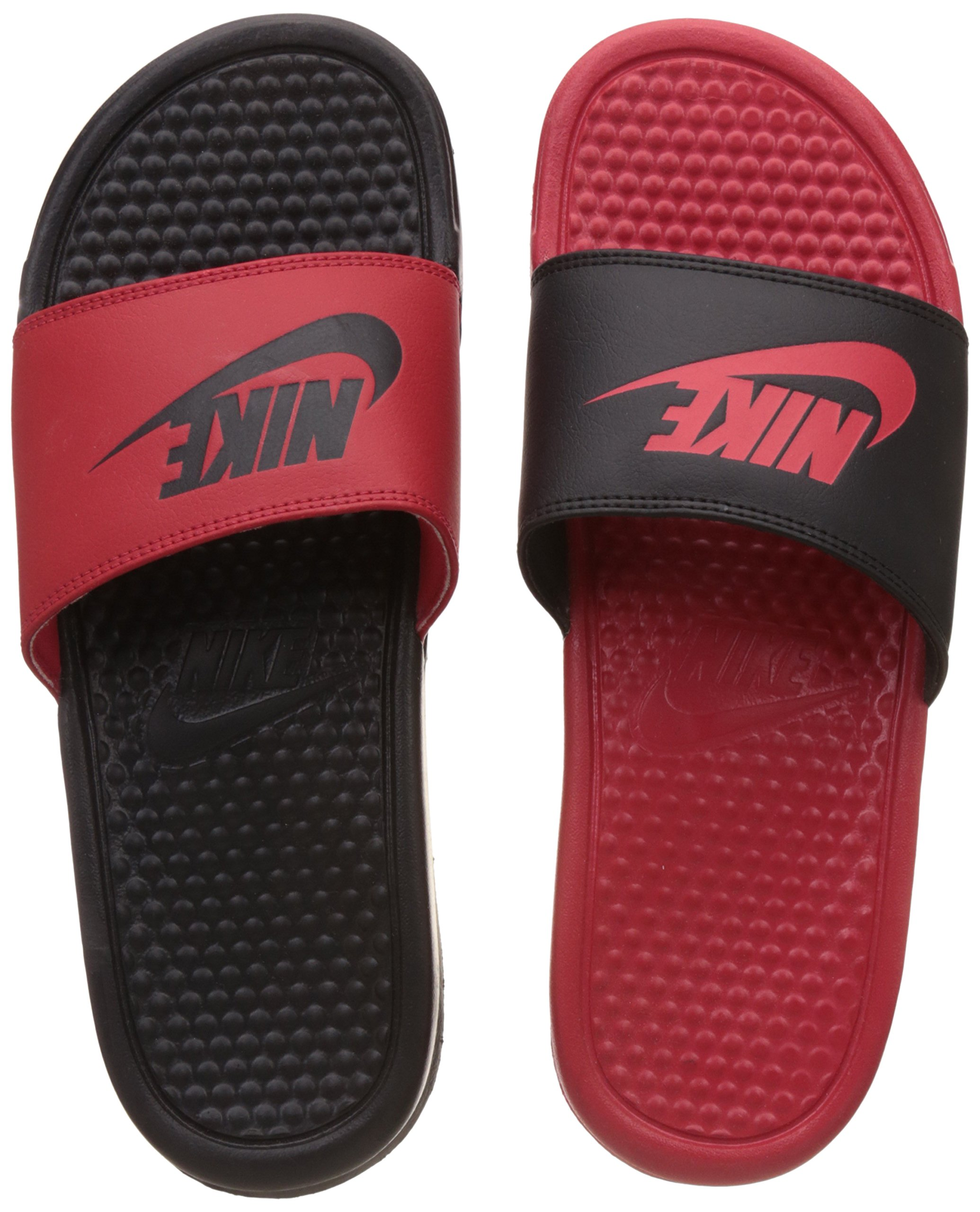 huge discount 7ff19 cb5ae Galleon - Nike Men s Benassi JDI Missmatch Sandals, University Red Black,  818736-600 (14 D(M) US)