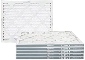 AmazonBasics Merv 8 AC Furnace Air Filter - 16'' x 20'' x 1'', 6-Pack