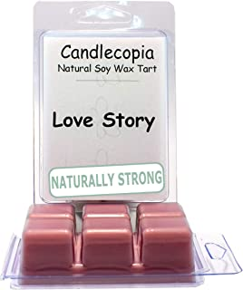 product image for Candlecopia Love Story Strongly Scented Hand Poured Vegan Wax Melts, 12 Scented Wax Cubes, 6.4 Ounces in 2 x 6-Packs