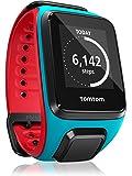 TOMTOM RUNNER 2 CARDIO BRACELET LARGE ROUGE ET BLEU Montre GPS avec cardio intégré