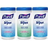 PURELL Hand and Face Sanitizing Wipes - Variety Pack, 40 Count Canister (Case of 3) - 9121-03-EC