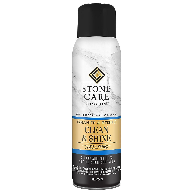 Stone Care International Granite and Stone Cleaner and Polish - 16 Ounce - Shine Aerosol For Granite Marble Soapstone Quartz Quartzite Slate Limestone ...