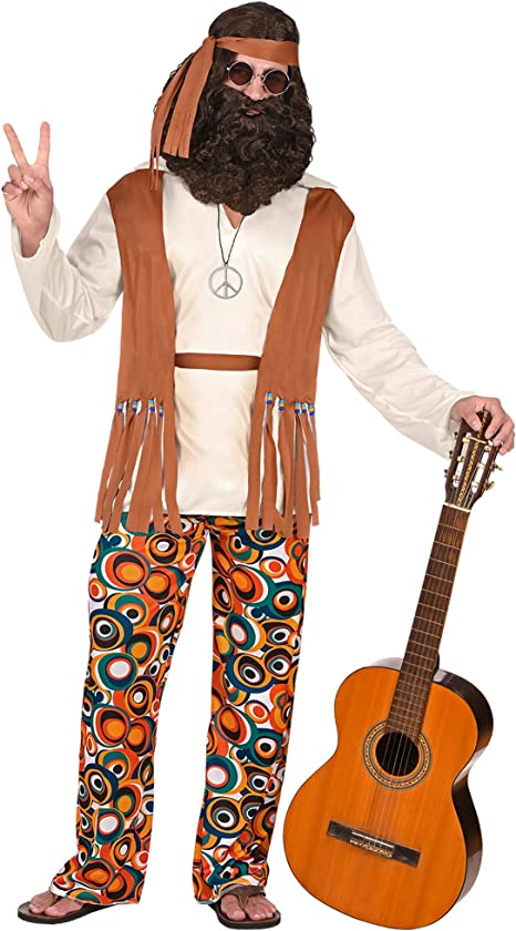 WIDMANN Disfraz de adultos hippie: Amazon.es: Juguetes y juegos