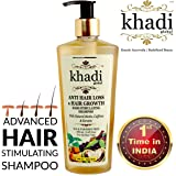 (Limited Introductory Offer) Khadi Global Anti Hair Loss & Hair Growth Hair Stimulating Shampoo With Natural Biotin Caffeine & Keratin Infused With More Than 25 Rare Active Indian Herbs 250ml /8.45 Fl.Oz | Stops Hair Loss & Promotes Hair Regrowth