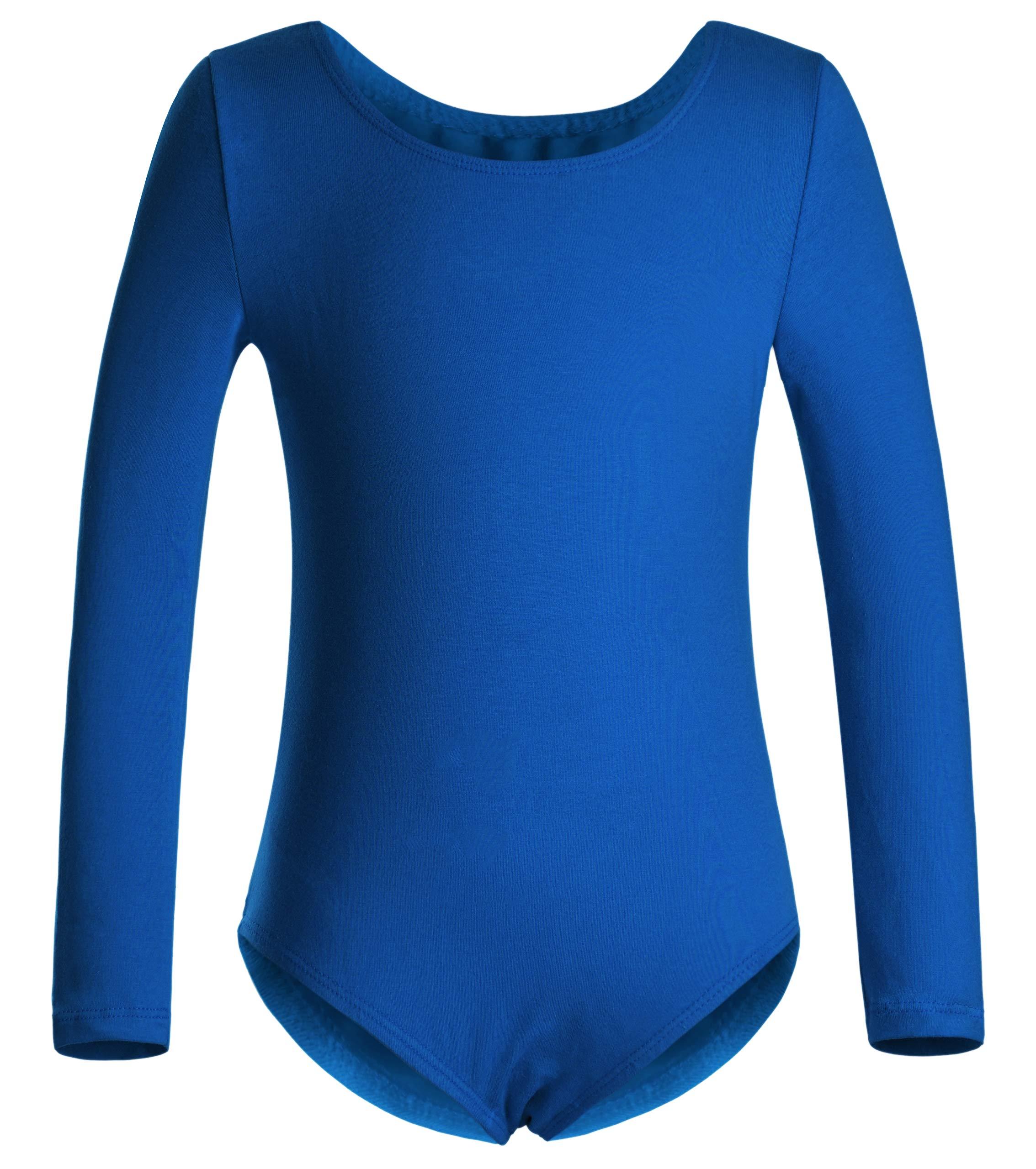 DANSHOW Girls' Team Basic Long Sleeve Leotard for