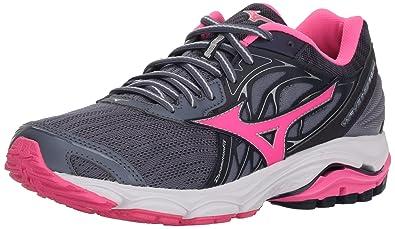 c866ac7b5 Mizuno Women's Wave Inspire 14 Running Shoe Folkstone Gray/Pink glo, ...