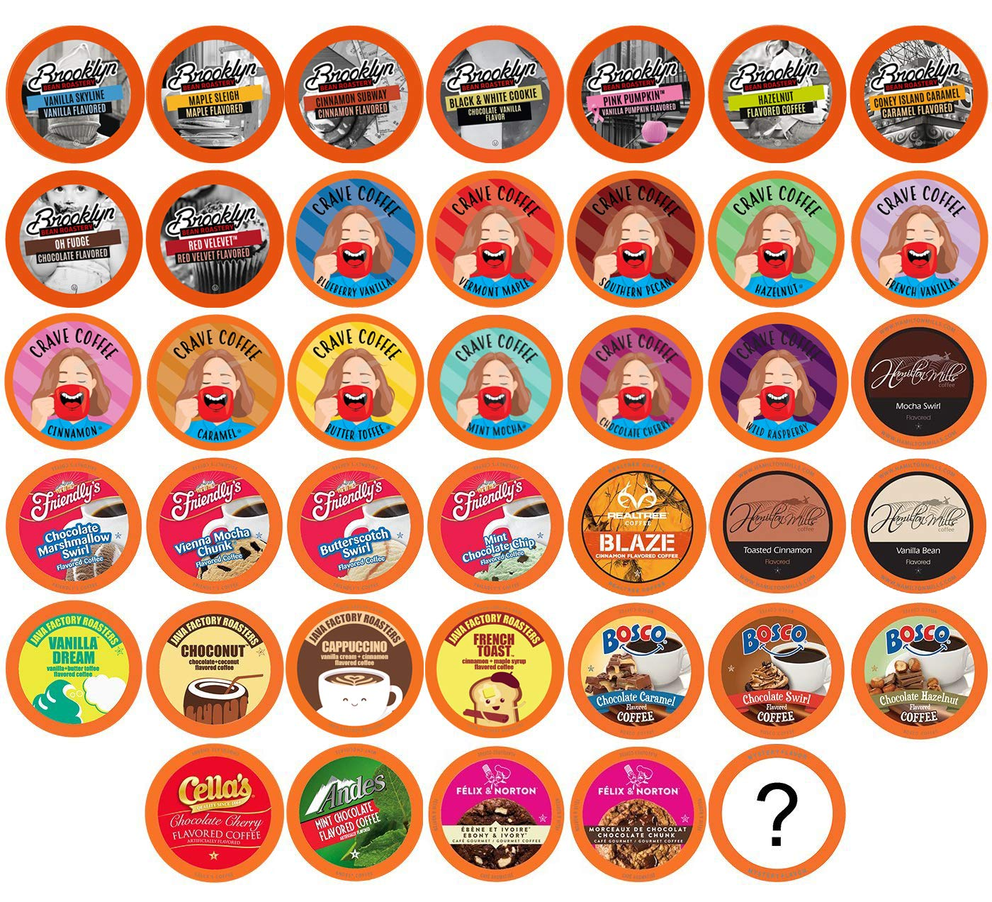 Two Rivers Flavored Coffee Single-Cup Sampler Pack for Keurig K-Cup Brewers, 100 Count