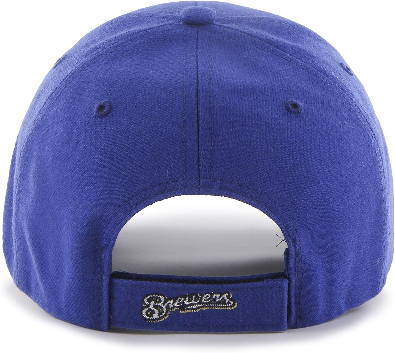 47 MLB Milwaukee Brewers Juke MVP Adjustable Hat Royal-Alternate One Size