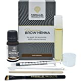 Parallel Products Eyebrow Henna Kit - 100% Organic Henna For Brow Coloring (Dark Brown)
