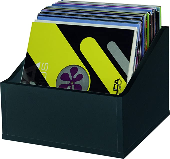 Glorious DJ Caja Negra para 110 Discos de Vinilo: Record Box Advanced (Top Scrolling): Amazon.es: Hogar