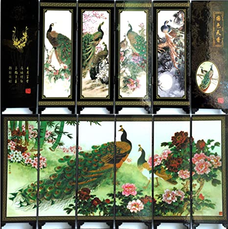 Living Room Decor Wall Divider Partition Art Kitchen Wooden Chinese Style Mini