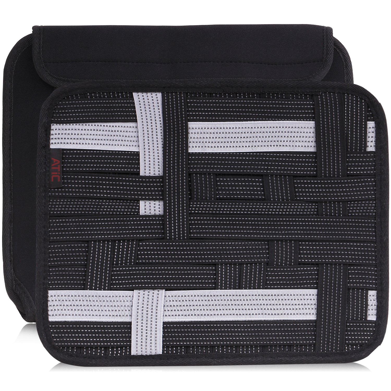 MoKo Organizer Bag, Travel Cable Phone Charger Electronics Accessories Case Bag, with Sleeve for Tablet / Laptop, Black