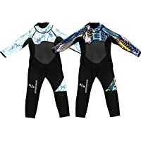 Move 2 Change Toddler Wetsuit 2-3 Years, Full Length Wetsuit Kids 3mm, 2T Full Body Toddler Swimsuit, Kids Wetsuit for…