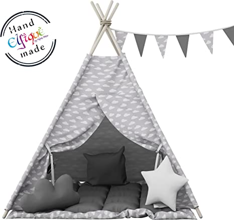 Elfique new Tenda gioco bambino tenda indiani bambini tenda con tappetino// doppia coperta imbottita di Klara Brist