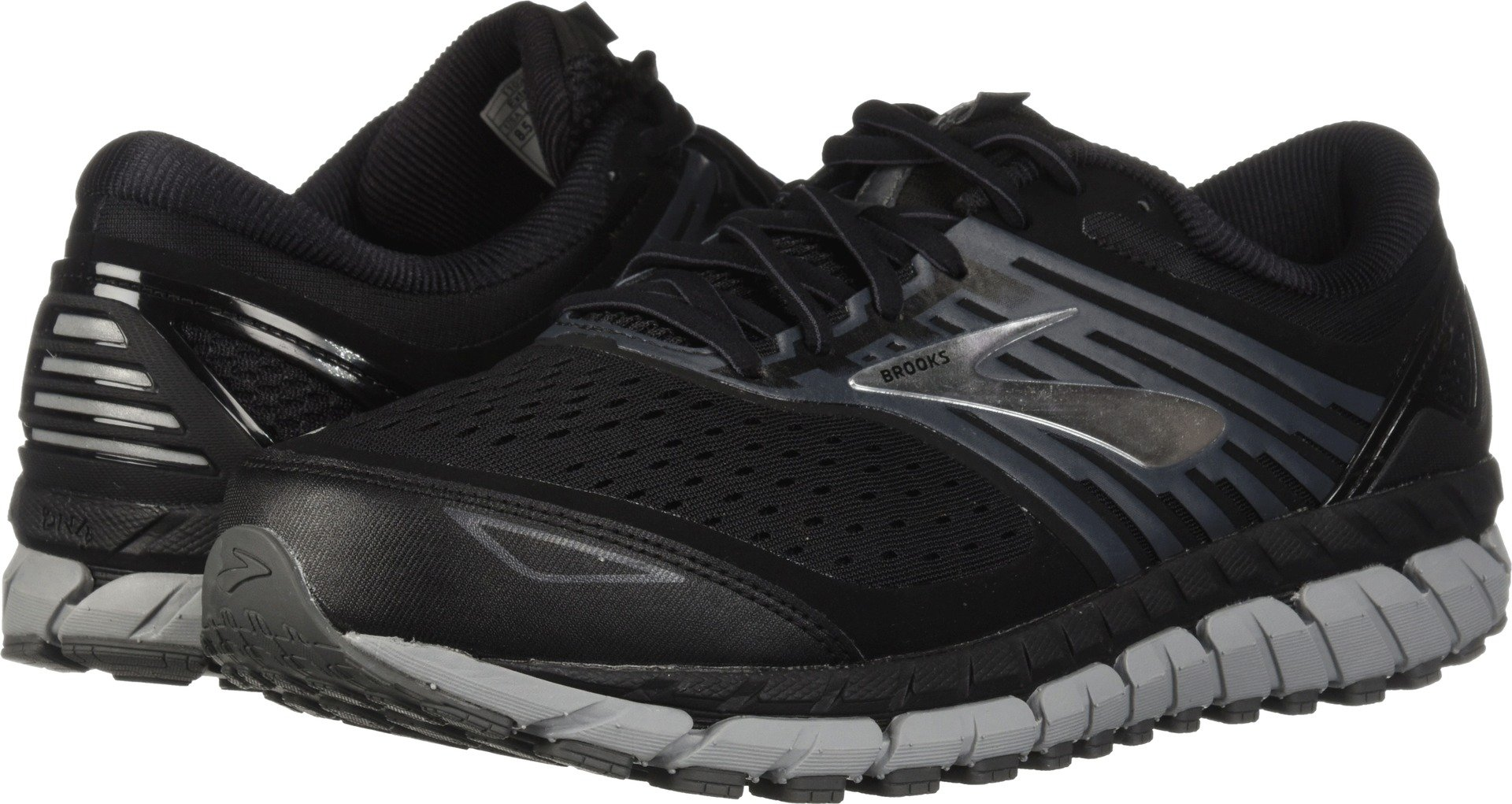 Brooks Men's Beast '18 Black/Grey/Silver 10 EE US