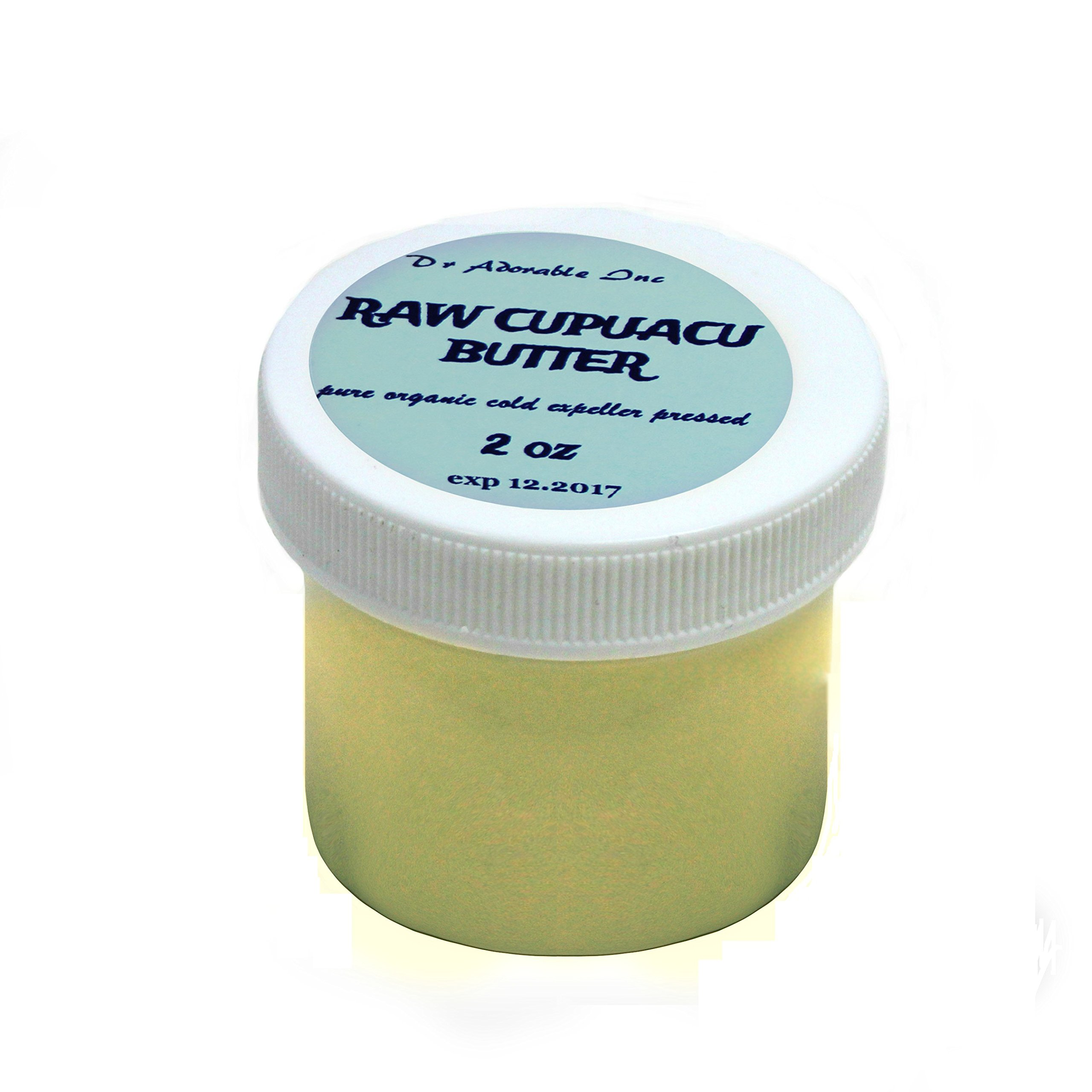 Pure & Organic Exotic Cupuacu Butter Unrefined Cold Pressed 2 oz