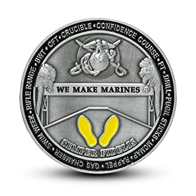 USMC Marine Corps Recruit Depot Parris Island Challenge Coin: Toys & Games