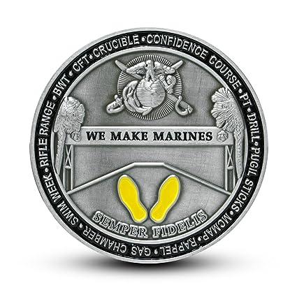 ccd288e24b USMC Marine Corps Recruit Depot Parris Island Challenge Coin