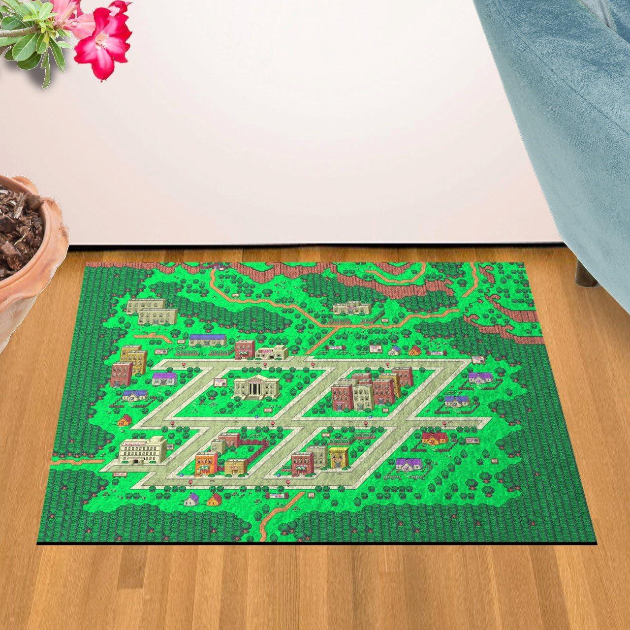GG Promo Earthbound, Onett Map Doormat Welcome Floormat 24 x 36