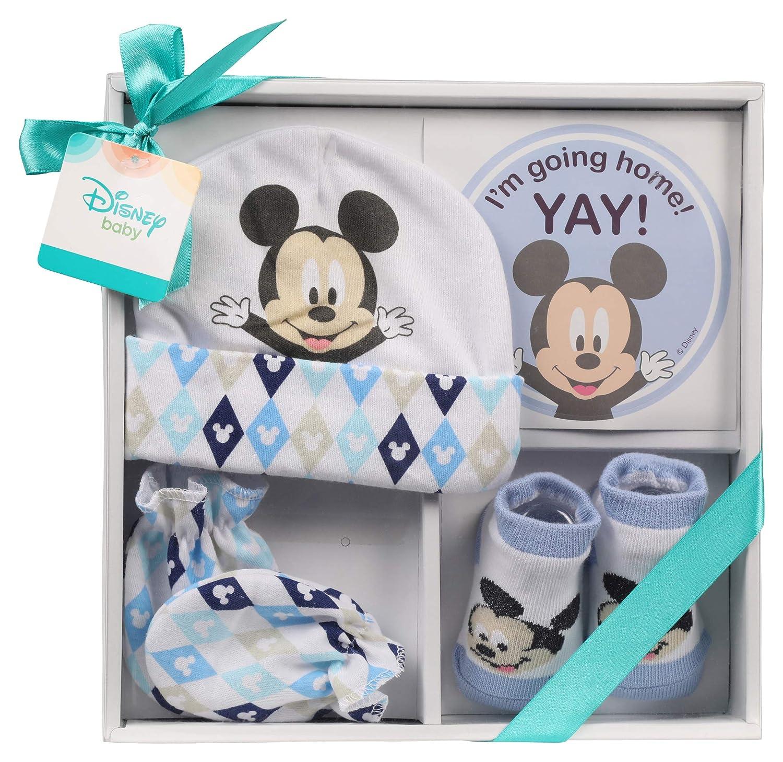 e67a4ea3b8b Amazon.com   Disney Mickey Mouse 4 Piece Take me Home Layette Set   Baby