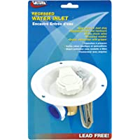 Valterra A01-0176LFVP Recessed Water Inlet - FPT, White (Carded)