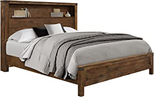 Global Furniture USA KB Victoria Bed, King, Rustic Oak