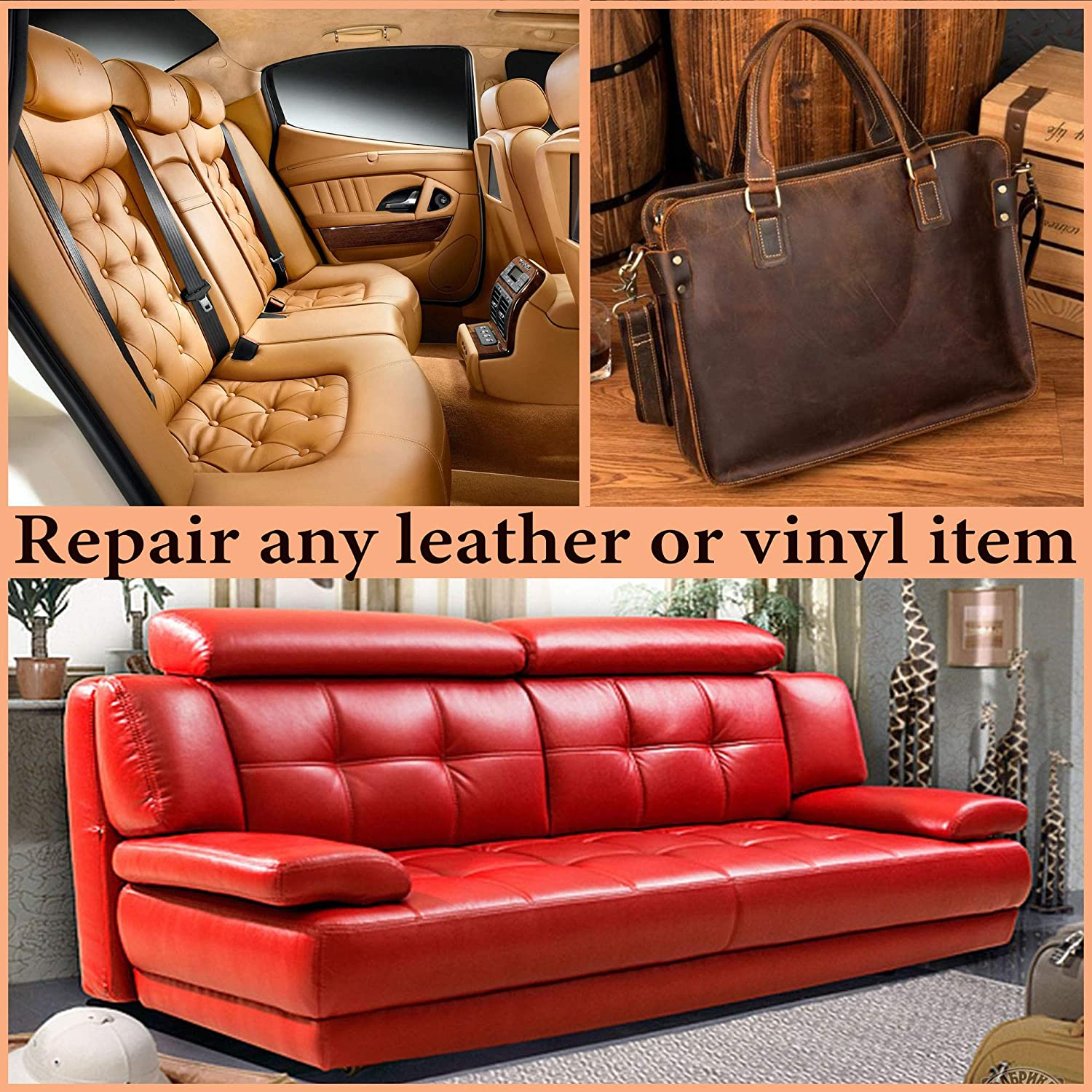Awe Inspiring Leather Repair And Vinyl Repair Kit Vinyl And Leather Patch For Car Seat Boat Seats Shoe Repair Couches Repair Furniture Sofa Leather Handbag Car Creativecarmelina Interior Chair Design Creativecarmelinacom