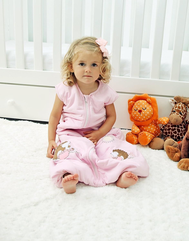 Saco de dormir con patas de bambú en 2.5 tog para niña. Erizo rosa. Disponible en 4 tamaños diferentes Schlummersack. rosa rosa Talla:3-4 años: Amazon.es: ...