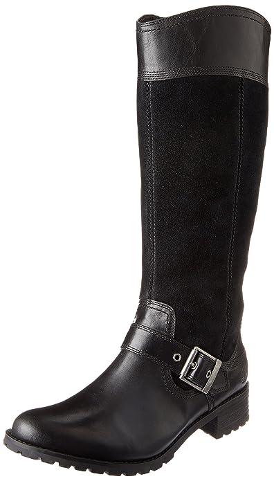 Timberland Women's EK Bethel Tall Harness Boot,Black,5.5