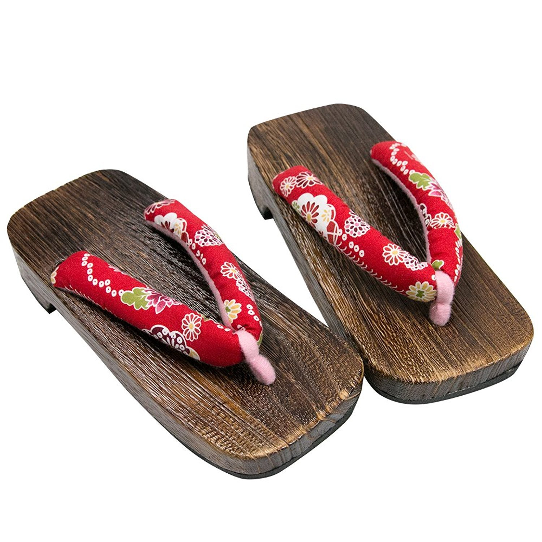 KYOETSU Girl's Japanese Wooden Geta Sandals Brown (10.5 US Little Kid (16.5cm))