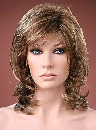 Forever Young Damen Perücke Mittellang Schichten Style Braun Mit Ash Blonde Highlights Perücke