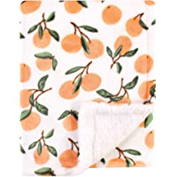 Luvable Friends Unisex Baby Plush Blanket with Sherpa Back, Citrus, One Size