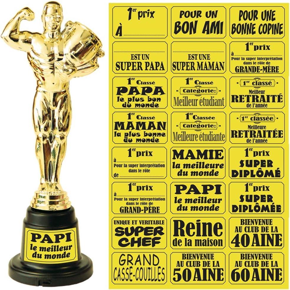 Nouveau Mini Couleur Argent Plastique Trophée jeux amusants Nouveauté