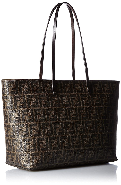 7383c2481 Amazon.com: FENDI Zucca pattern 8BH185-00G87 / F0QT2 Leather Tote Bag:  Clothing