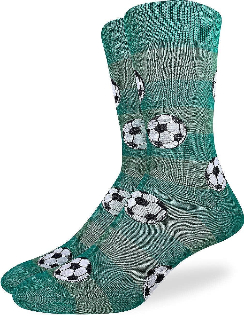 Green Good Luck Sock Mens Soccer Socks Adult Shoe Size 7-12