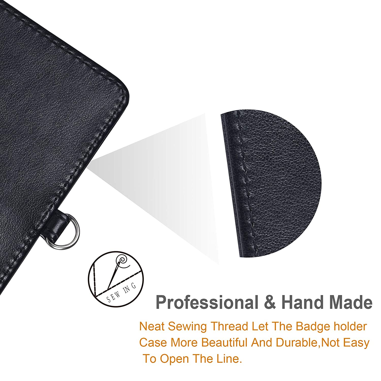 Amazon.com: Soporte para insignias, vertical, doble de piel ...