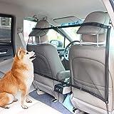 AK KYC ペット用 ドライブ セーフティーネット ネットバリア カーセーフティーネット運転席 後部座席 仕切り 簡単 装着 車内用防護ネット ブラック