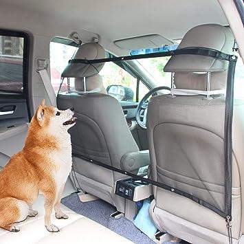 AK KYC Mascota Perro Red Mascotas Protección en Coches -Perro Portador de Coche Ajustable Anticolisión Malla Red Barrera Automática Barrera Seguridad ...