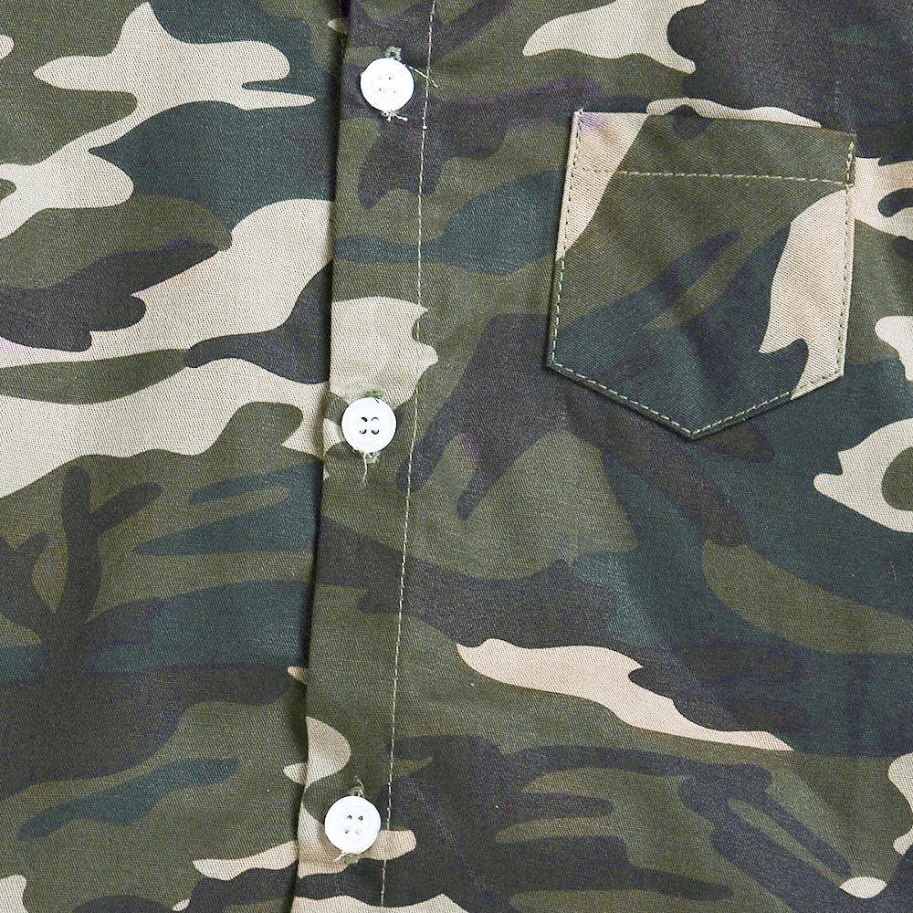 YanHoo Ropa para ni/ños Ni/ños Manga Larga Top Camisa de Camuflaje para ni/ños Ropa de Blusa Camiseta de Manga Larga de Camuflaje para ni/ños Camiseta de Manga Larga Sudaderas 1-5 A/ños