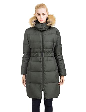 Womens coats with fur trimmed hood