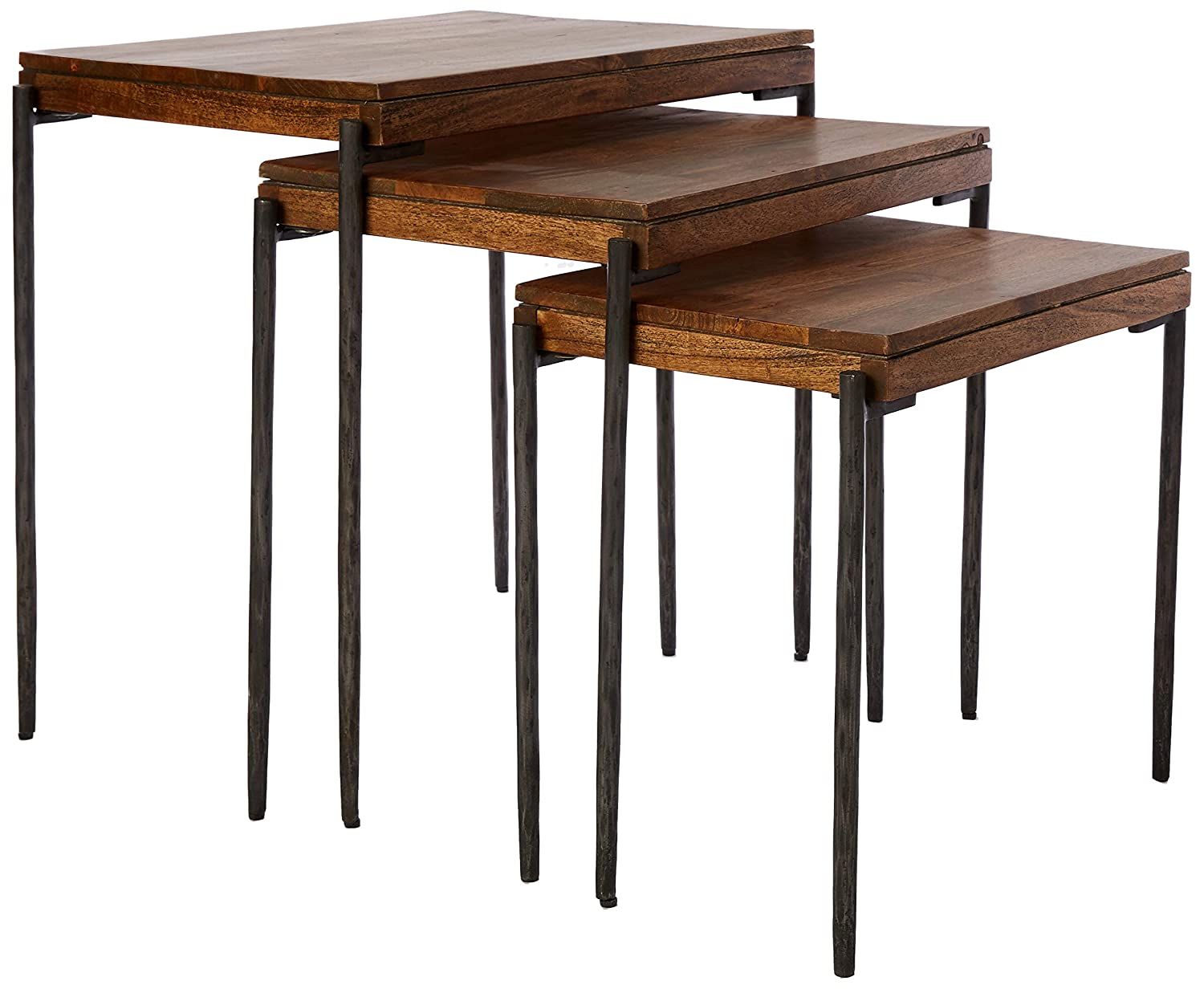 Amazon Com Hekman Furniture 23710 Nest Of Tables Kitchen Dining