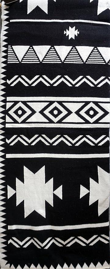 Amazon.com: Max Studio Knitted Cotton Decorative Throw Toss Blanket ...
