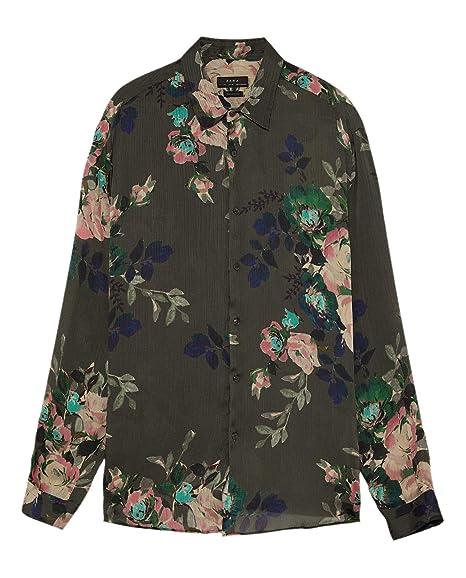 c0feed7880cc Zara Men's Printed Floral Shirt 5980/294: Amazon.co.uk: Clothing