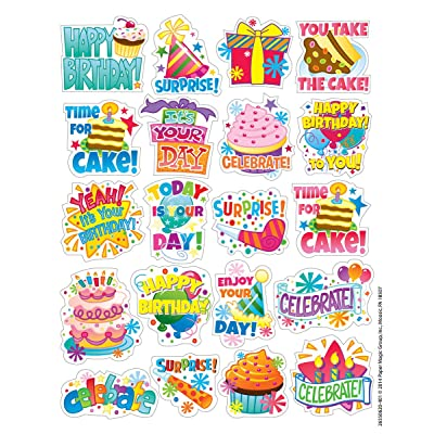 Eureka Birthday Stickers, Theme (655062): Office Products