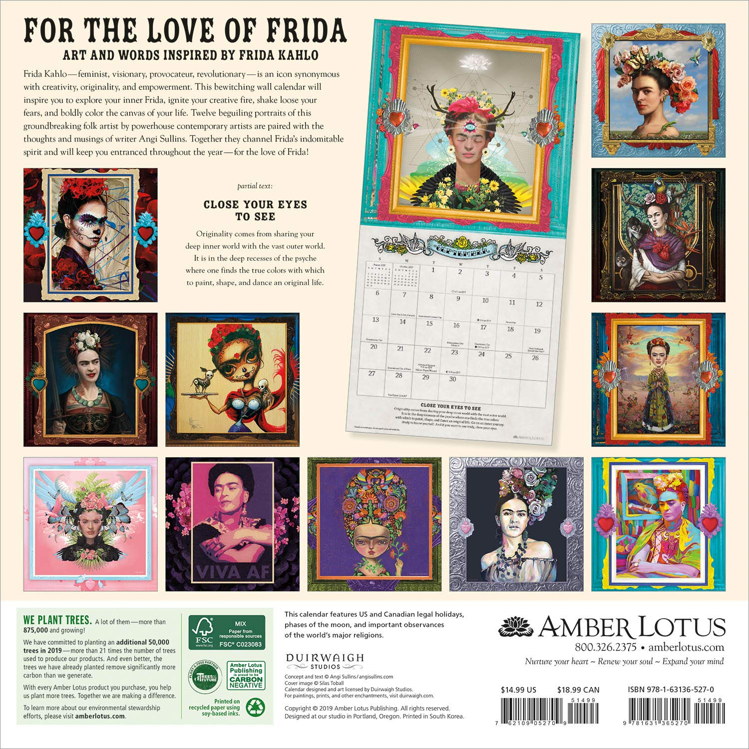 For the Love of Frida 2020 Wall Calendar: Art and Words ...