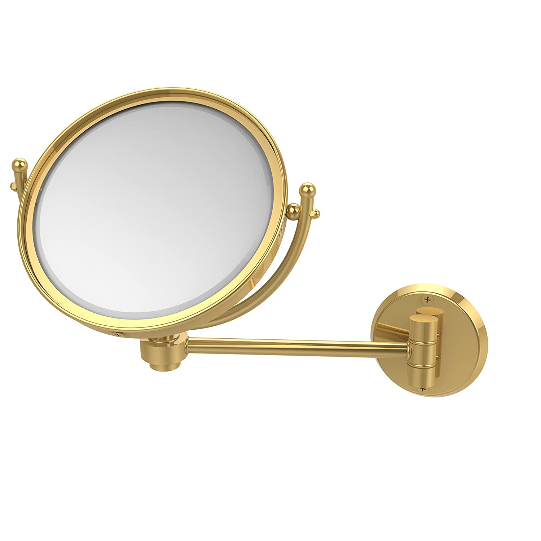 Allied Brass WM-5//3X-BKM 8 Inch Wall Mounted Make-Up Mirror 3X Magnification Matte Black