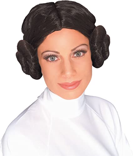 Amazon.com: Peluca princesa Leia Star Wars., talla única ...